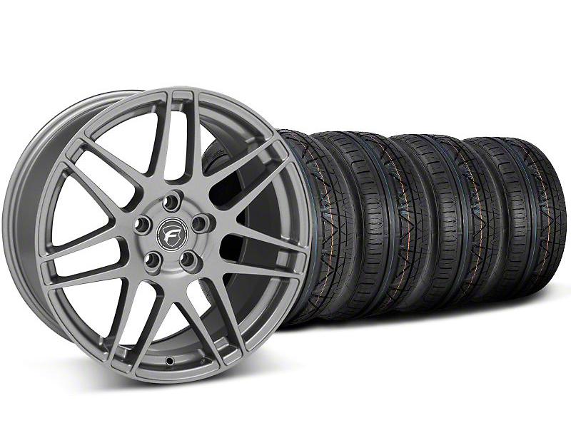 Staggered Forgestar F14 Monoblock Gunmetal Wheel & NITTO INVO Tire Kit - 20x9/11 (05-14 All)