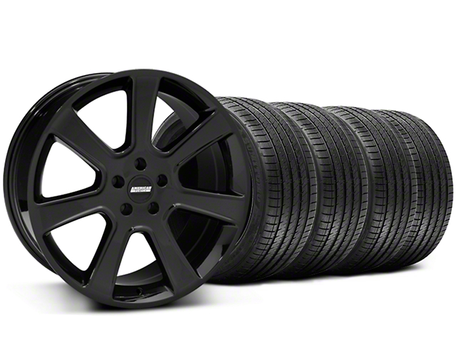 S197 Saleen Style Black Wheel and Sumitomo Maximum Performance HTR Z5 Tire Kit; 20x9 (05-14 All)