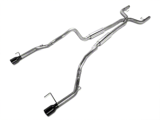 Pypes True Dual Mid-Muffler Cat-Back Exhaust with Black Tips (05-10 V6)