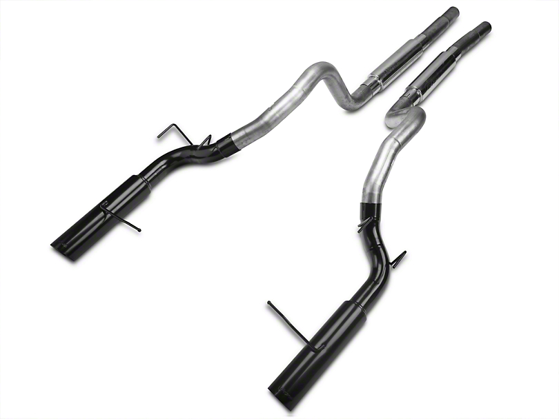 Pypes Pype-Bomb Super System Cat-Back Exhaust with Black Tips (11-14 GT)