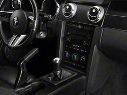 SEC10 Dash Overlay Kit; Brushed Black (05-09 All)