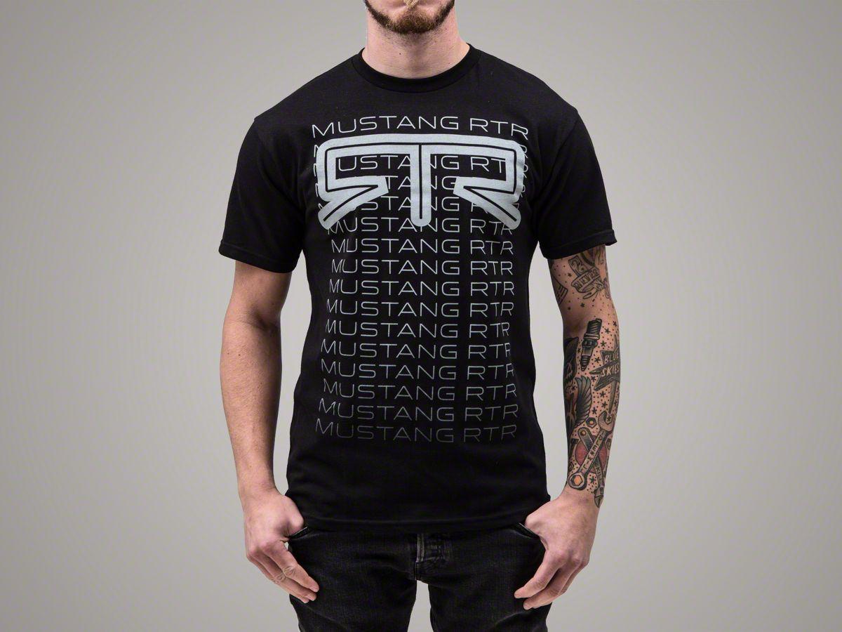 "/""Nothing but Mustang/"" Tri-Bar Back Print T-Shirt"