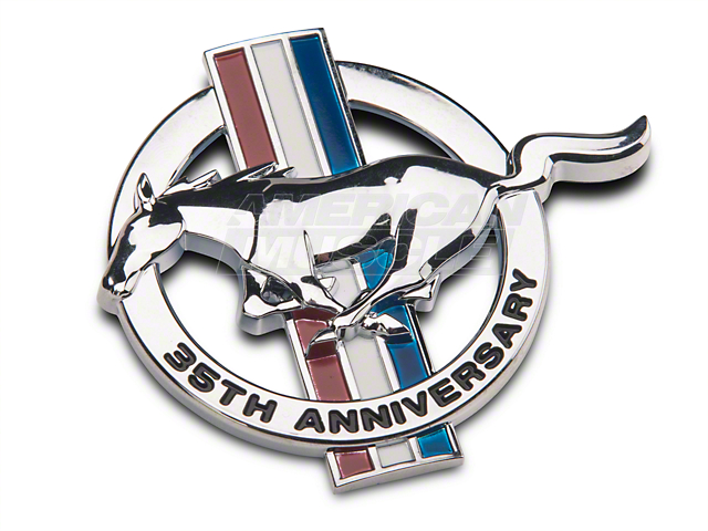 Ford 35th Anniversary Fender Emblem; Driver Side (1999 All)