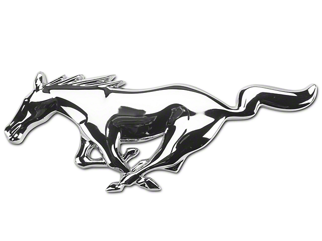 ford mustang running pony grille emblem 5r3z8a224aa 05 09. Black Bedroom Furniture Sets. Home Design Ideas