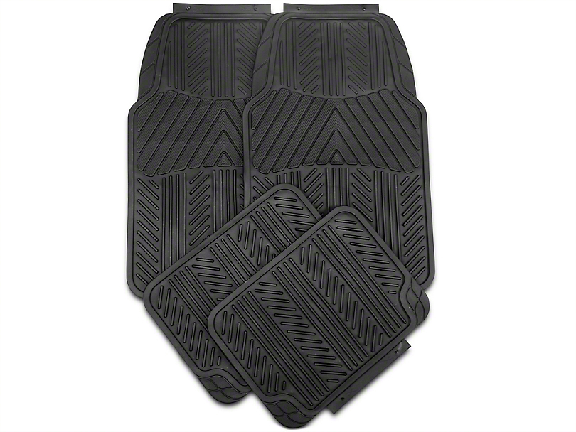 Alterum 4-Piece All Weather Floor Mat Set - Black (79-14 All)
