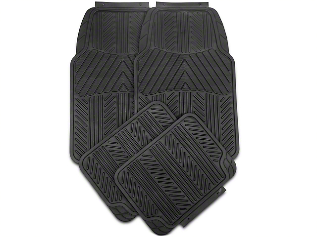 Alterum 4-Piece All-Weather Floor Mats; Black (79-14 All)