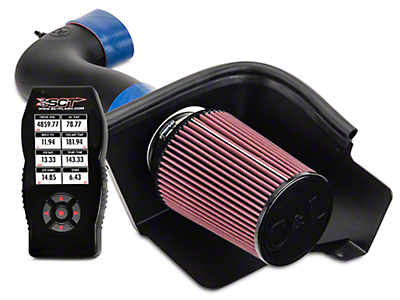 C&L Racer Cold Air Intake w/ 95mm MAF & Bama X4 Tuner (05-09 GT)