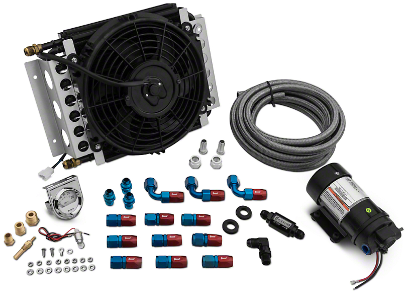 Rear Differential Cooler Kits : Full tilt boogie mustang differential cooler kit in