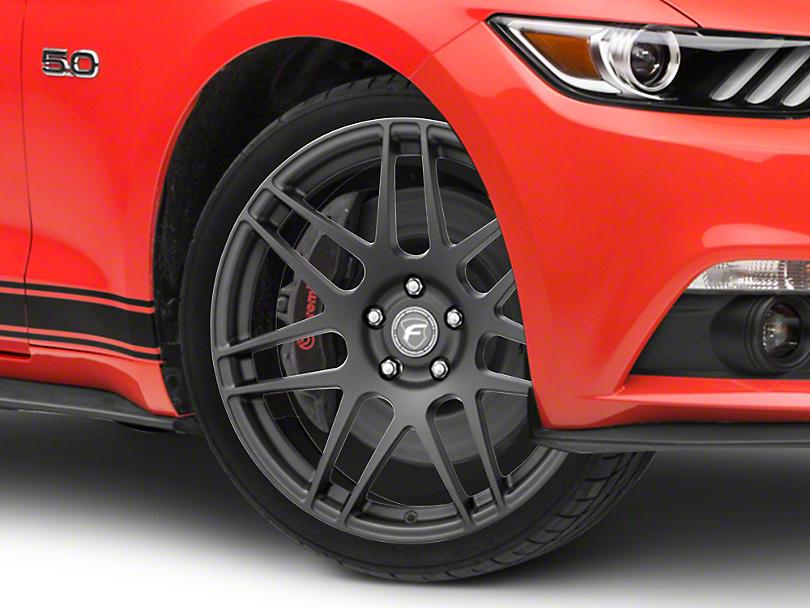 Forgestar F14 Monoblock Matte Black Wheel - 19x9.5 (15-18 GT, EcoBoost, V6)