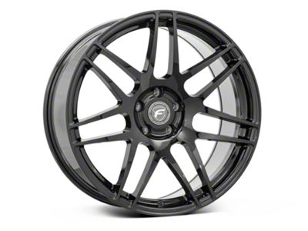 Forgestar F14 Monoblock Piano Black Wheel - 20x9.5 (15-19 GT, EcoBoost, V6)