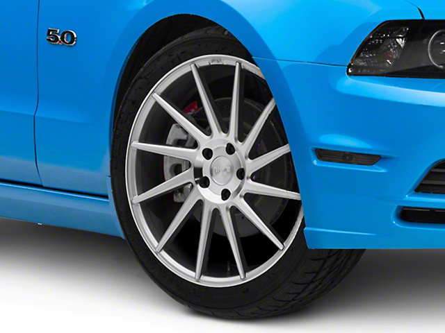 Niche Surge Silver Machined Directional Wheel; Driver Side; 20x8.5 (10-14 All)