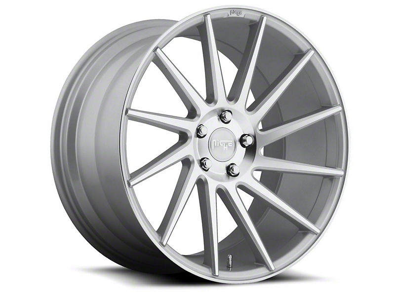 Niche Surge Silver Machined Directional Wheel - Driver Side - 20x8.5 (15-19 GT, EcoBoost, V6)