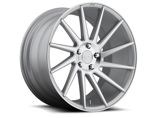 Niche Surge Silver Machined Directional Wheel - Driver Side - 20x8.5 (15-18 GT, EcoBoost, V6)