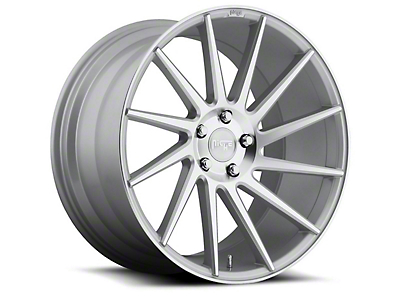 Niche Surge Silver Machined Directional Wheel - Driver Side - 20x8.5 (15-17 All)