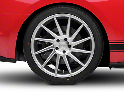 Niche Surge Silver Machined Directional Wheel - Driver Side - 20x10 (15-17 All)