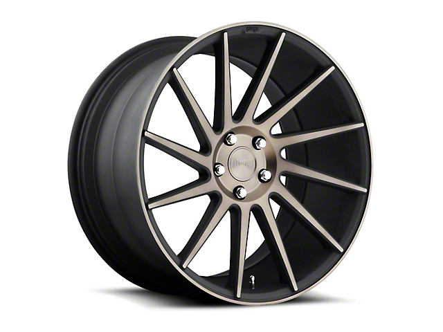 Niche Surge Double Dark Directional Wheel - Driver Side - 20x8.5 (15-18 GT, EcoBoost, V6)