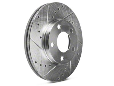POWER PERFORMANCE DRILLED SLOTTED PLATED BRAKE DISC ROTORS P31293 FRONT