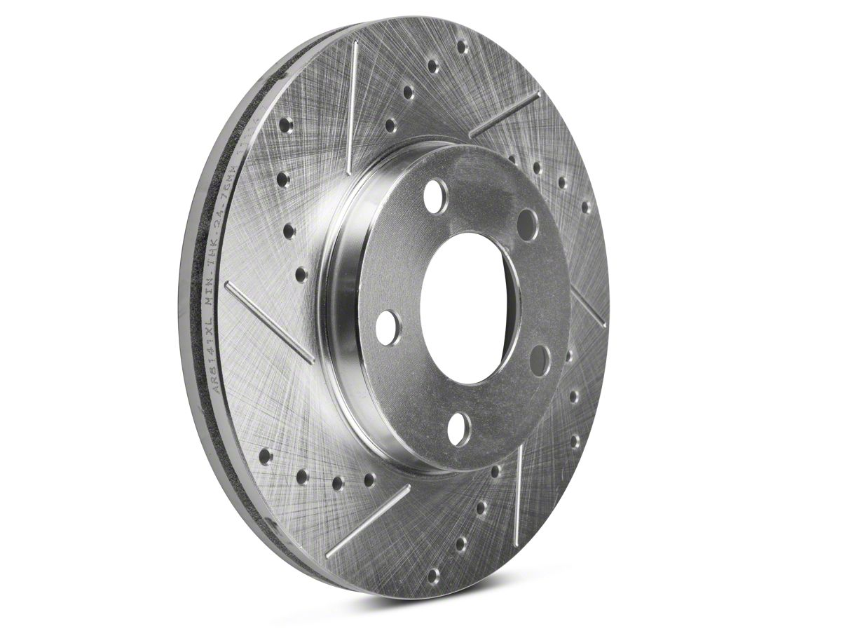 Rear Black Drill Slot Brake Rotors Pads For 94-98 99 00 01 02 03 04 Mustang