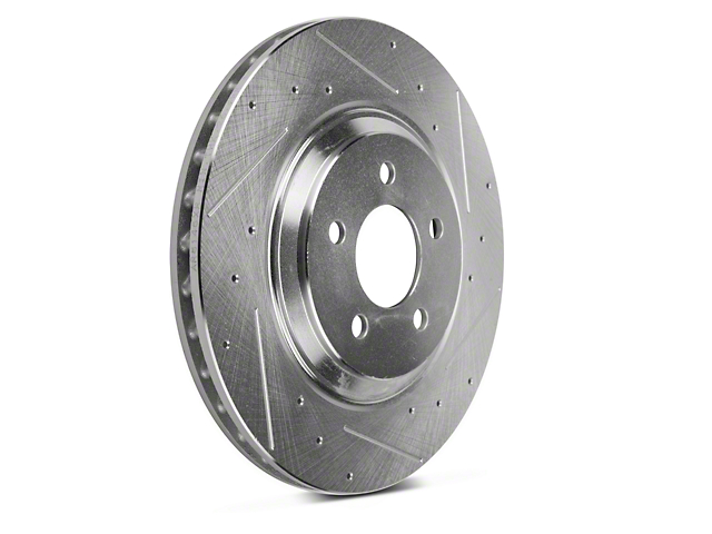 Power Stop Evolution Cross-Drilled and Slotted Rotors; Front Pair (94-04 Cobra, Bullitt, Mach 1)