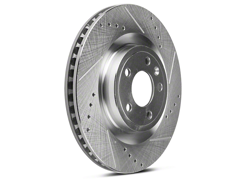Power Stop Evolution Cross-Drilled & Slotted Rotors - Front Pair (11-14 GT)