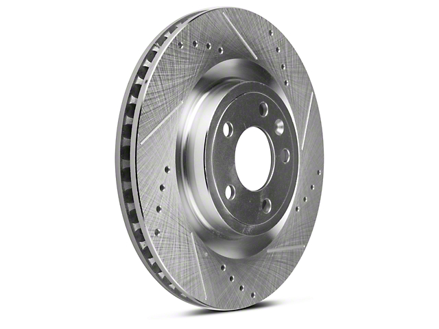 Power Stop Evolution Cross-Drilled and Slotted Rotors; Front Pair (11-14 Standard GT)
