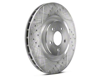 Power Stop Evolution Cross-Drilled & Slotted Rotors - Front Pair (11-14 GT Brembo; 12-13 BOSS 302; 07-12 GT500)