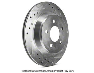 Power Stop Evolution Cross-Drilled & Slotted Rotors - Rear Pair (94-04 Cobra, Bullitt, Mach 1)