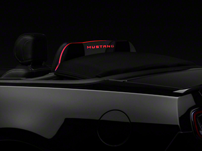SpeedForm Laser Engraved Wind Deflector w/ Illumination - Mustang Lettering (11-14 All)