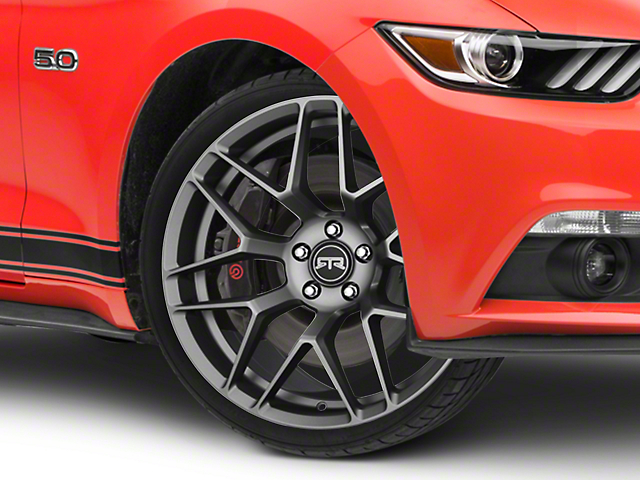 RTR Tech 7 Satin Charcoal Wheel; 20x9.5 (15-21 GT, EcoBoost, V6)