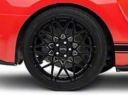 RTR Tech Mesh Gloss Black Wheel; Rear Only; 20x10.5 (15-20 GT, EcoBoost, V6)