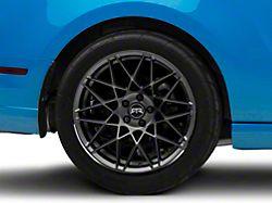 RTR Tech Mesh Dark Gunmetal Wheel; Rear Only; 19x10.5 (10-14 All)