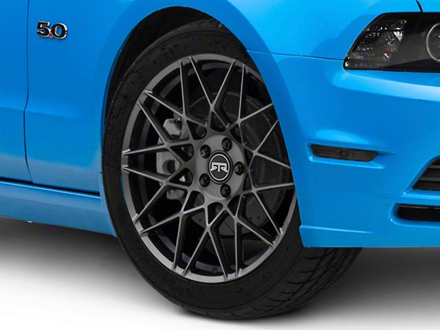 RTR Tech Mesh Satin Charcoal Wheel; 20x9.5 (10-14 Standard GT, V6)