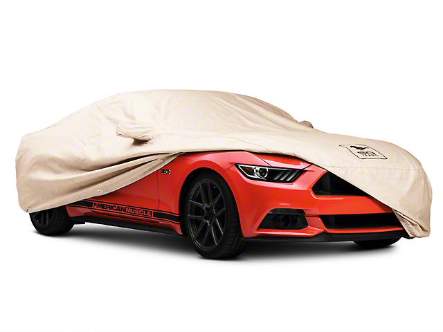 Covercraft Deluxe Custom Fit Car Cover; 50th Anniversary Logo (15-20 Fastback)