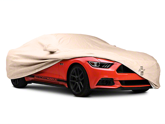 Covercraft Deluxe Custom Fit Car Cover; Tri-Bar Pony Logo (15-20 Fastback)