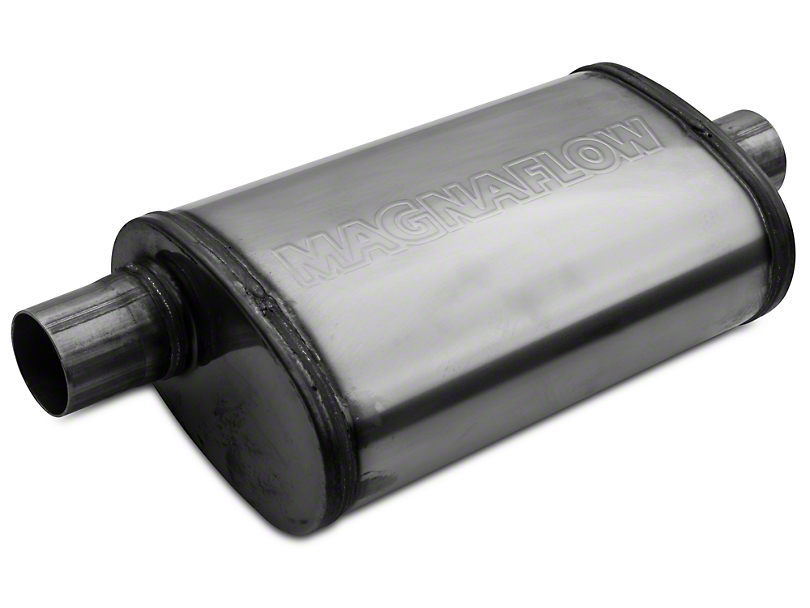 Magnaflow Performance Series Center/Offset Oval Polished Muffler - 2.25 in. (Universal Fitment)