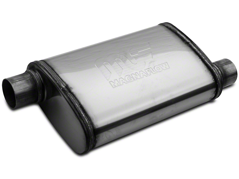 Magnaflow Performance Series Offset/Offset Oval Polished Muffler - 2.25 in. (Universal Fitment)