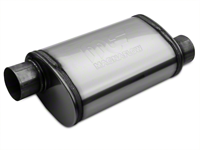 Magnaflow Performance Series Offset/Offset Oval Polished Muffler - 3 in. (Universal Fitment)