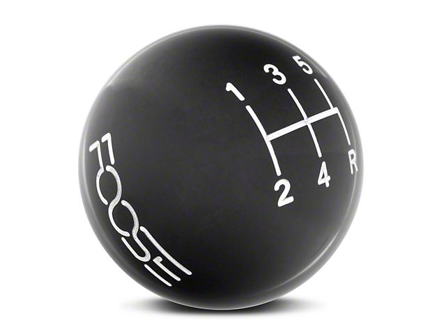 MMD by FOOSE Retro Style 5-Speed Shift Knob with FOOSE Logo; Black (05-10 GT, V6)