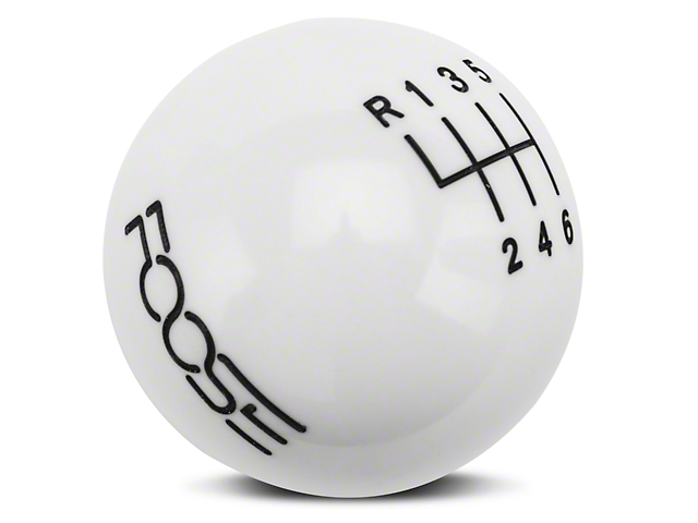 MMD by FOOSE Retro Style 6-Speed Shift Knob w/ FOOSE logo - White (11-14 GT, V6)