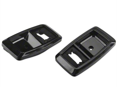 Add Interior Door Handle Bezels - Black Pair (87-93 All)