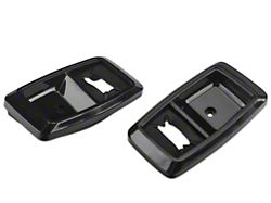 OPR Interior Door Handle Bezels; Black (87-93 All)