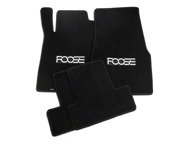 Front & Rear Floor Mats w/ FOOSE Logo - Black (13-14 All)