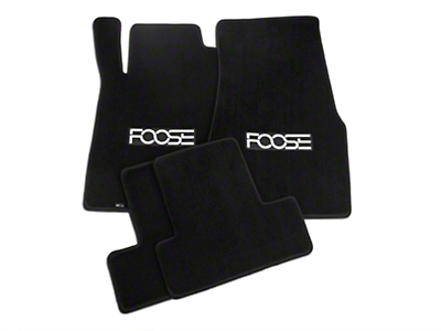 Front & Rear Floor Mats w/ FOOSE Logo - Black (13-14 All)