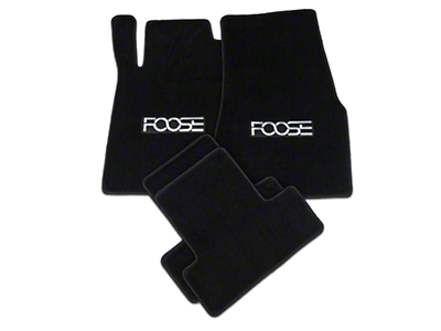 Front & Rear Floor Mats w/ FOOSE Logo - Black (11-12 All)