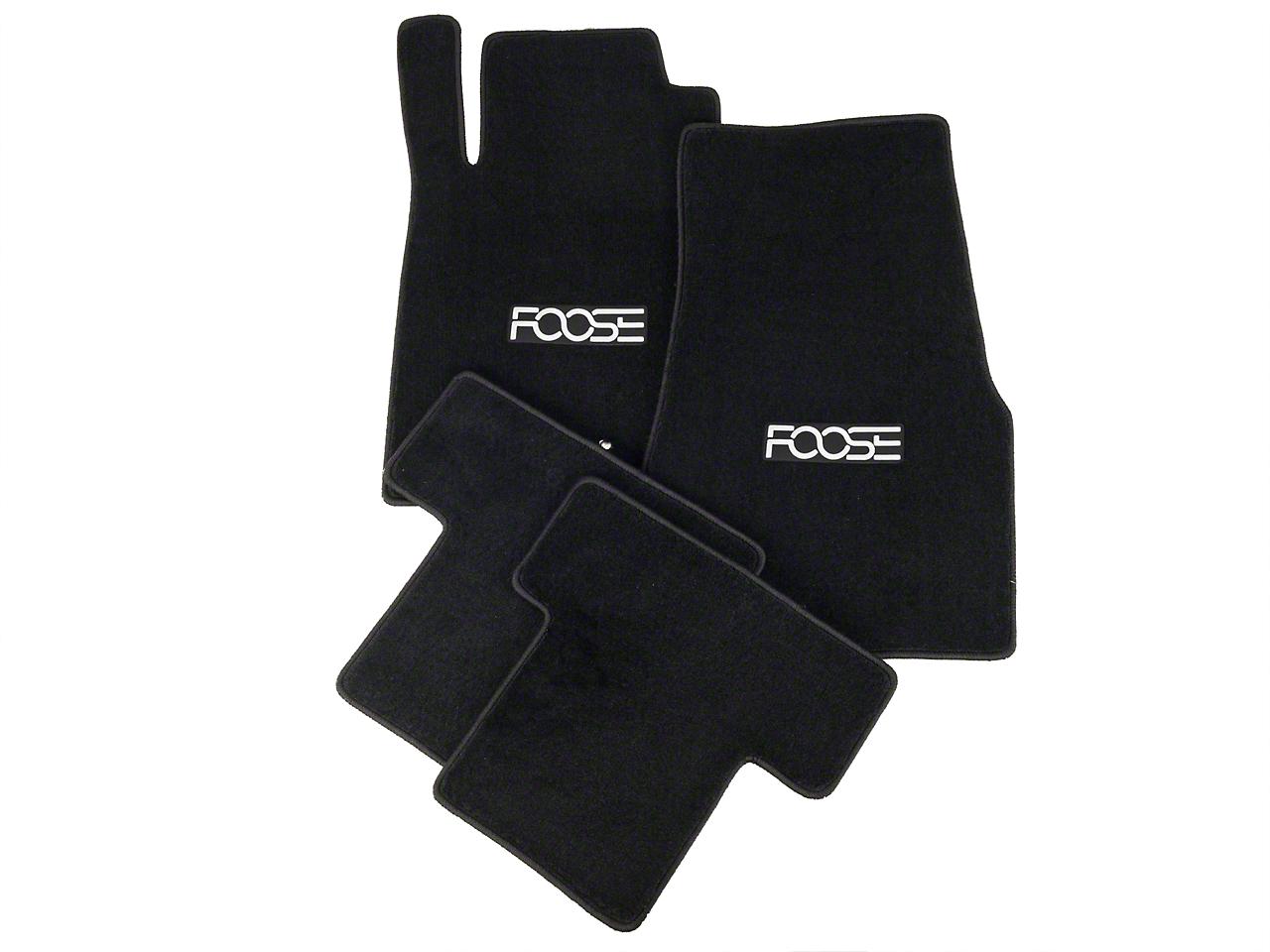 Front & Rear Floor Mats w/ FOOSE Logo - Black (05-10 All)