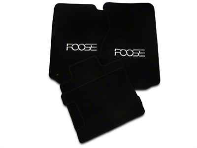 Front & Rear Floor Mats w/ FOOSE Logo - Black (94-98 Convertible)