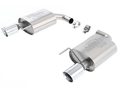 Ford Performance by Borla Touring Axle-Back Exhaust - Chrome Tip (15-19 EcoBoost w/o Active Exhaust)