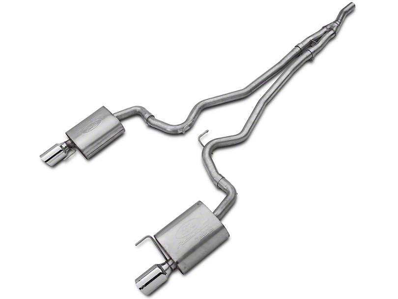 Ford Performance by Borla Touring Cat-Back Exhaust - Chrome Tips (15-17 EcoBoost)