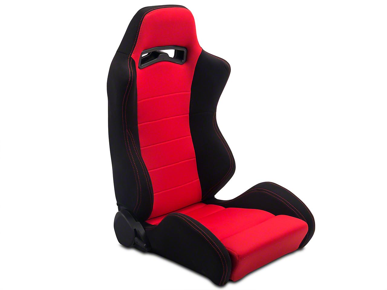SpeedForm Black & Red Racing Seats - Pair (79-14 All)