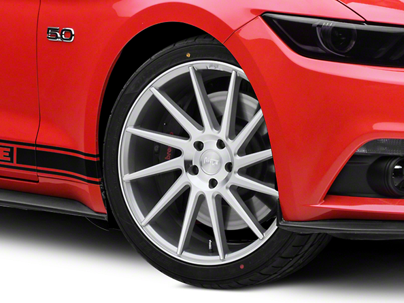 Niche Surge Silver Machined Directional Wheel - Passenger Side - 20x8.5 (15-19 GT, EcoBoost, V6)
